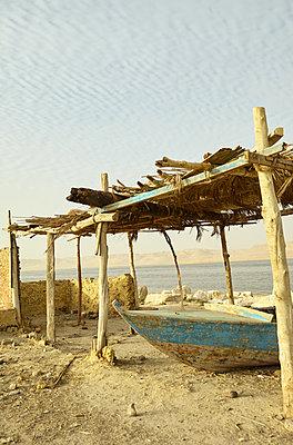 Boat on Lake Qarun in El Faiyum, Egypt - p1010m2277842 by timokerber