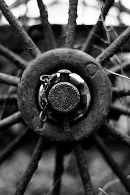 Forgotten farm equipment - p1228m2260788 by Benjamin Harte