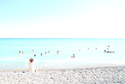 Beach of Nice - p1289m1525764 by Elisabeth Blanchet