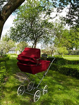 Buggy in garden - p1499m2013692 by Marion Barat