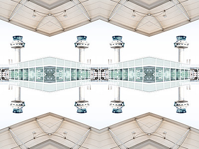 Abstract Kaleidoscope Salzburg Airport - p401m2210950 by Frank Baquet