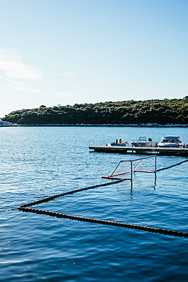 Beach ball field in the harbor of Vrsar - p728m2027209 by Peter Nitsch