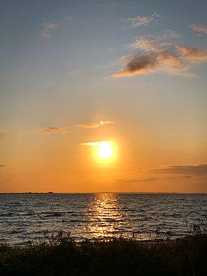 Sunset on Fyn - p382m2283995 by Anna Matzen