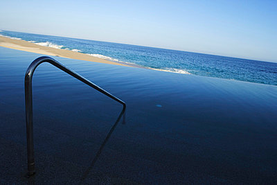 Railing By Swimming Pool - p644m728334 by Carlos Sanchez Pereyra