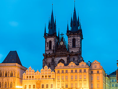 Church of Our Lady before Týn, at night, Prague - p1332m2205607 by Tamboly