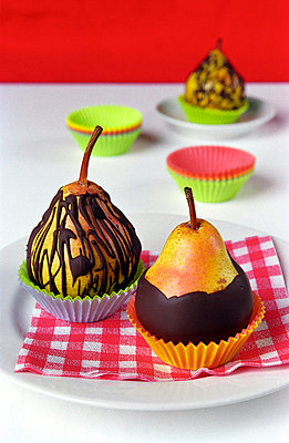 Chocolate covered pears - p1650086 by Andrea Schoenrock