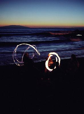 Lichtspuren - p3550032 von Sabine Büttner