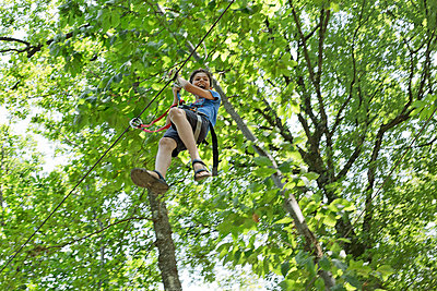 Ropes course - p445m1051412 by Marie Docher