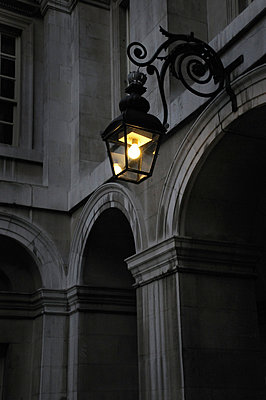 Old light in courtyard of Royal Naval College , Greenwich, London - p1072m829265 by Neville Mountford-Hoare