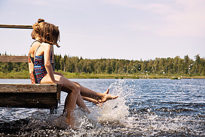 Cooling off at the lake - p294m2132905 by Paolo
