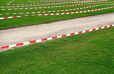 Absperrung um dem Rasen - p4140206 von Volker Renner