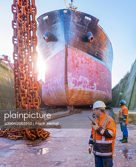 Ship repair and maintenance works - p390m2063910 by Frank Herfort