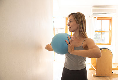 Pilates with a ball - p1640m2270997 by Holly&John