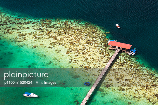 plainpicture | Photo library for authentic images - plainpicture p1100m1520424 - High angle view of tropical... - plainpicture/Mint Images