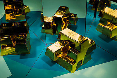 Gold bars - p801m1585681 by Robert Pola