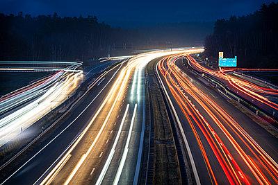 Germany, Bavaria, Light trails on the highway - p1275m2229435 by cgimanufaktur