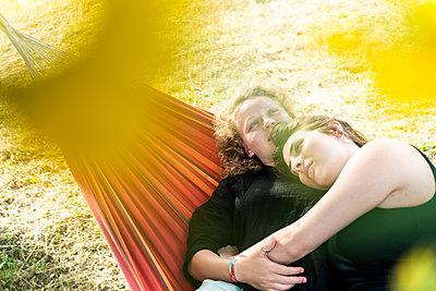 In the hammock - p1437m2107325 by Achim Bunz
