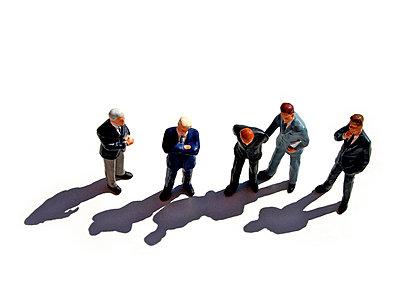 Thoughtful businessmen - p8130327 by B.Jaubert