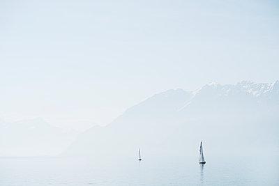 Sailing boats at Lake Geneva - p850m2076699 by FRABO