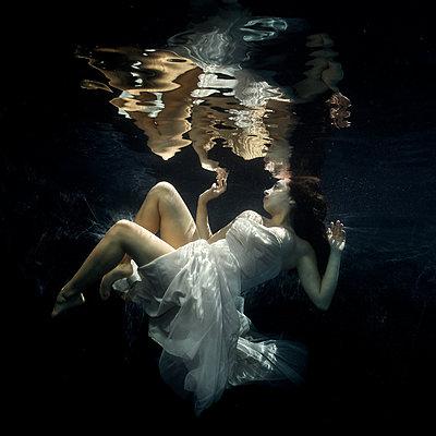 underwater Ballet Dancer - p1554m2158953 by Tina Gutierrez