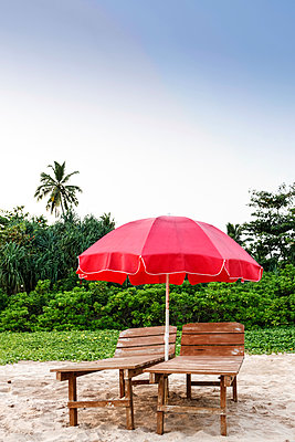 Parasol on the beach - p795m1031500 by Janklein