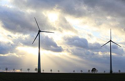 Windturbinen im Sturm - p1258m1516718 von Peter Hamel