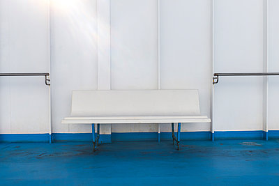 White bench on ship - p280m1111717 by victor s. brigola