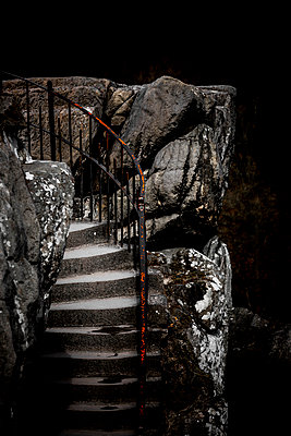 Stone stairs - p248m1020113 by BY