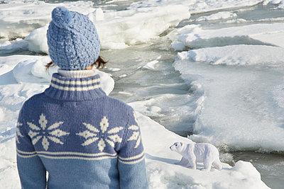 Woman and ice bear - p4640934 by Elektrons 08