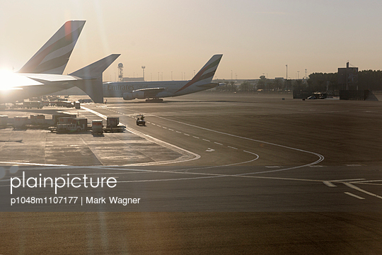 Dubai Airport Emirates Airlines Airbus A380 - p1048m1107177 by Mark Wagner