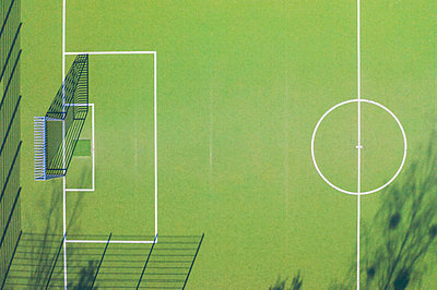 Aerial view of soccer field - p300m2144439 by Michael Malorny