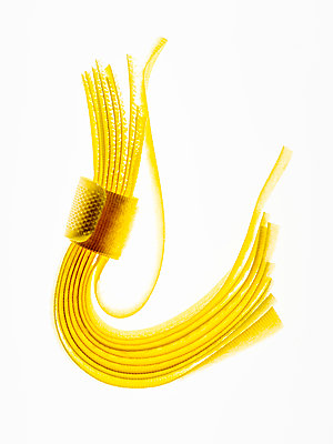 Yellow velcro straps - p401m2192527 by Frank Baquet