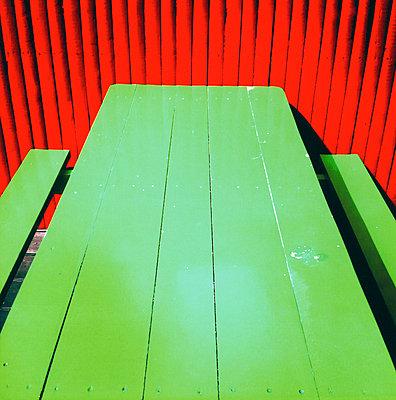 Wooden desk - p7560141 by Bénédicte Lassalle
