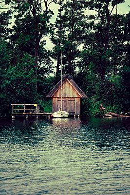 Fishermen's hut - p432m911919 by mia takahara