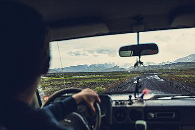 Tourist driving inThorsmork, Iceland - p1084m986826 by Operation XZ