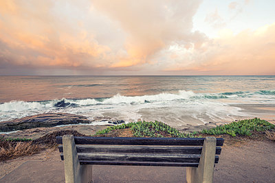 Stormy November sunrise from above Windansea Beach. La Jolla, CA. - p1436m2142657 by Joseph S. Giacalone
