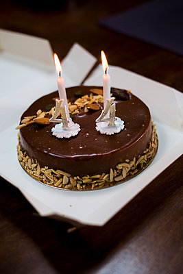 Birthday cake - p445m1119658 by Marie Docher