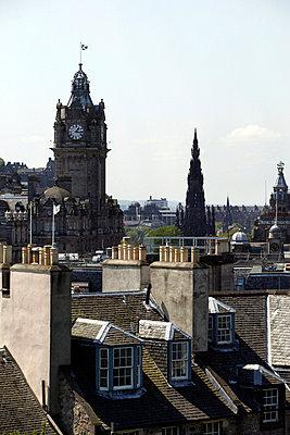 Edinburgh's rooftops - p3883096 by L.B. Jeffries