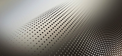 Curved dot pattern against an abstract background - p301m731084f by Ralf Hiemisch