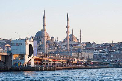 Galata Bridge And The Suleymaniye Mosque; Istantul Turkey - p442m784335 by Keith Levit