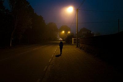 Walking the way of Saint James at night - p1165m1441853 by Pierro Luca
