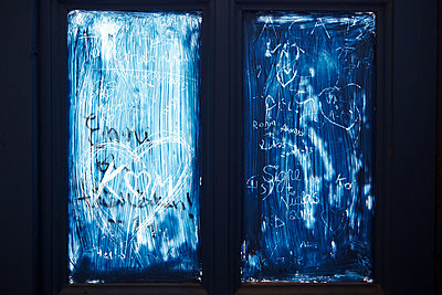 Graffiti on windows - p415m1191201 by Tanja Luther