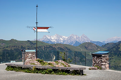 Observation deck against clear sky, Kitzbühel, Tyrol, Austria - p300m2144991 by Wilfried Wirth