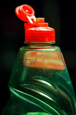 Close Up Of Plastic Bottle With Detergent   - p847m988148 by Jan Håkan Dahlström