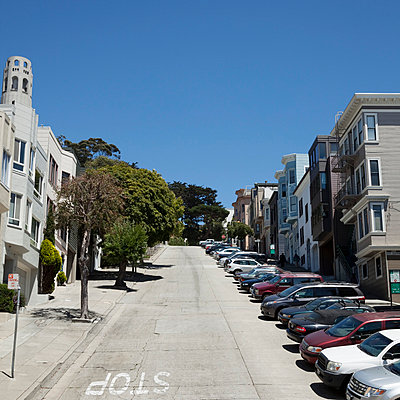 San Francisco hill - p495m833365 by Jeanene Scott