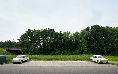 two trabant cars - p1132m1591246 by Mischa Keijser