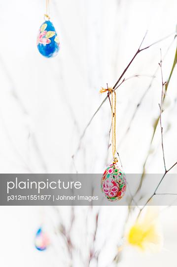 plainpicture - plainpicture p312m1551877 - Twigs decorated with Easter... - plainpicture/Johner/Johner Images