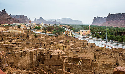 The old ghost town of Al Ula, Saudi Arabia, Middle East - p871m1583742 by Michael Runkel