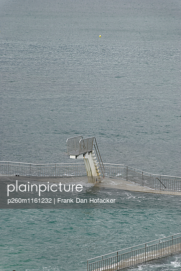 Natural outdoor pool with diving board - p260m1161232 by Frank Dan Hofacker