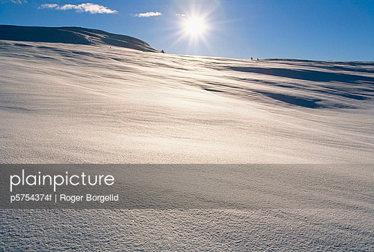 High mountains in the sun, Norway. - p5754374f by Roger Borgelid